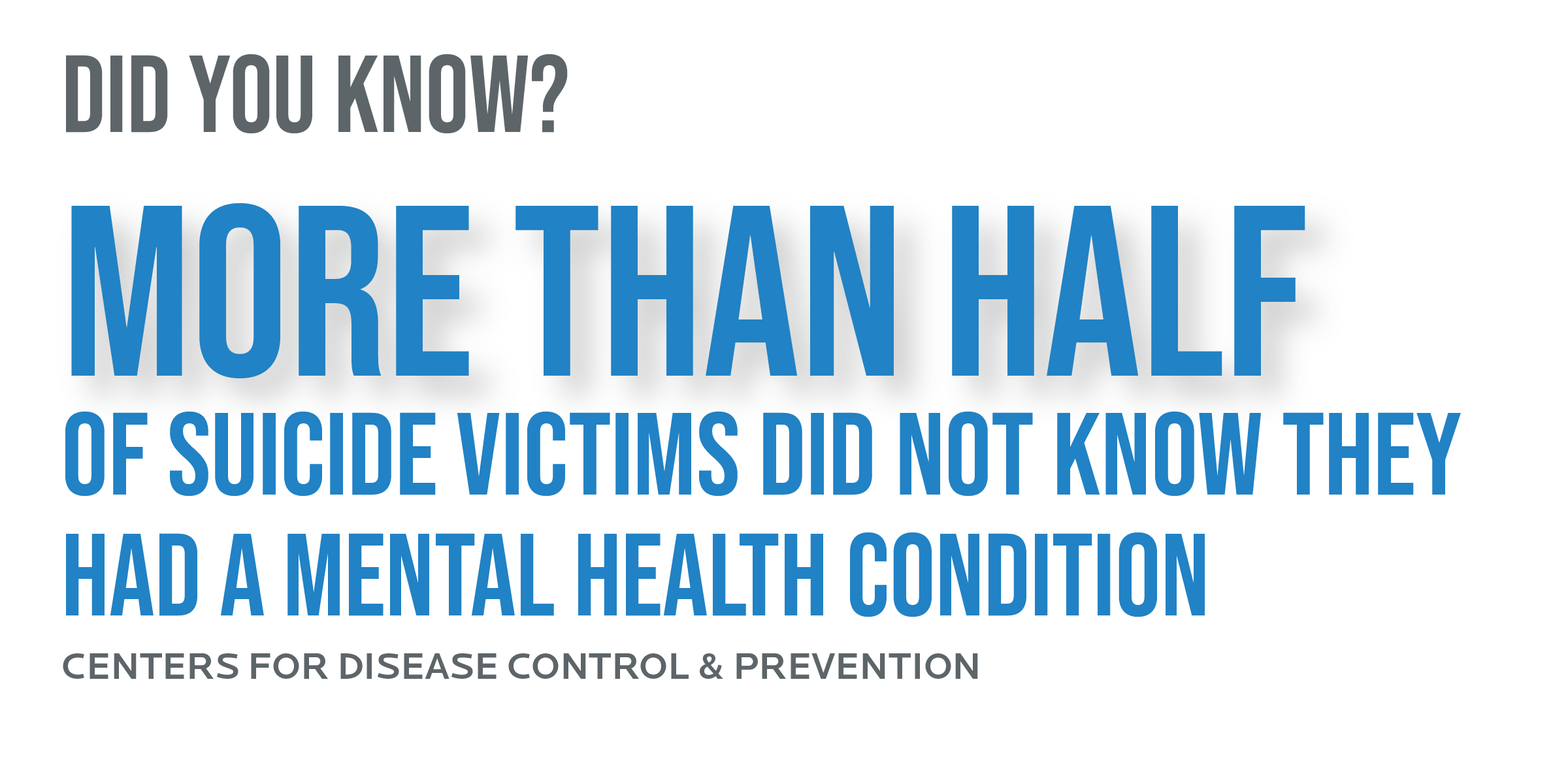 More than half of suicide victims did not know they had a mental health condition